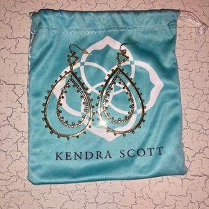 Kendra Scott Gold Rumer Open Drop Earrings